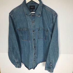 Forever 21 Men's denim shirt jacket Size L